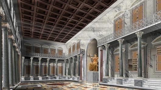 5 Interno Biblioteca disegno ricostruttivo (non 3D)